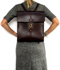 Cuir sac à dos/sac à dos pour ordinateur portable sac brun à la main en Australie à l'aide de cuir tanné végétal