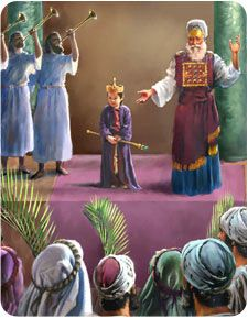 """Athaliah, the ruthless queen of Judah, was even more wicked than her mother Jezebel. When her son Ahaziah died, she quickly seized control of the kingdom by executing all of her grandsons who might reign in her place. """"But Jehosheba, ... sister of Ahaziah, took Joash the son of Ahaziah, and ... they hid him ... from Athaliah, so that he was not slain. And he was with her hid in the house o..."""