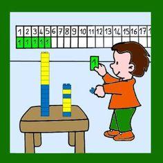 Tour d'appel - Rituel numération Numicon, Montessori Math, Math Numbers, Fun Math, Math Math, My Job, Teaching Math, Grade 1, Elementary Schools