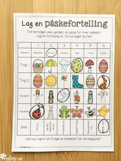 Oppgaver i norsk, matematikk og KRLE knyttet til påske Spanish Language Classes, Language Activities, Worksheets For Kids, Classroom Organization, First Grade, Kids And Parenting, Montessori, Preschool, Arts And Crafts