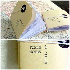mini notebooks - field notes
