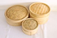 Other Kitchenalia - A set of different size & natural bamboo steamers including a steamer for sale in Gauteng Steamers, Different, Bamboo, Natural, Decor, Decoration, Decorating, Nature, Deco