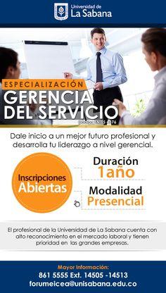 #NOVOCLICK esta con @unisabana #Especializaciones #GerenciadelServicio