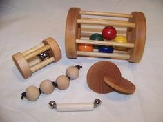 Montessori Baby Toys - Five Pack of Toys on Etsy, $48.00