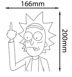 Rick and Morty White Vinyl Sticker Sanchez Middle Finger Rick And Morty Drawing, Rick And Morty Tattoo, Middle Finger Tattoos, Art Sketches, Art Drawings, Ricky Y Morty, Coloring Books, Coloring Pages, Arte Cholo