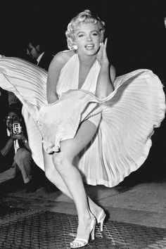Marilyn Monroe poses over the updraft of New York subway grating while in character for the filming of 'The Seven Year Itch'; in Manhattan, 1954. Photo / AP