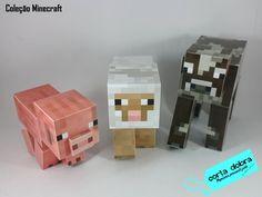 Personagens Minecraft para decorar a sua festa.  Todos confeccionados em papeis fotográfico de alta gramatura.  Escolha entre os bichinhos (Vaca, Ovelha e Porco) e faça seu pedido.    Medidas:  Vaca  Altura: 14,0cm  Largura: 7,0cm  Comprimento: 14,5cm    Porco  Altura: 10,5cm  Largura: 5,0cm  Com...