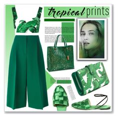 """""""emerald"""" by nanawidia ❤ liked on Polyvore featuring Louis Vuitton, Valentino, Dolce&Gabbana and Marco de Vincenzo"""