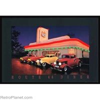 Route 66 Diner Neon LED Light Up Poster #retro #route66  http://www.retroplanet.com/PROD/32664