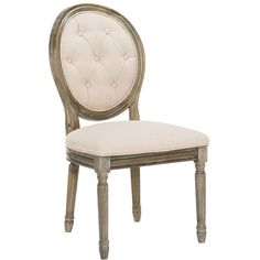DINING CHAIRS ❤ liked on Polyvore featuring home, furniture, chairs, dining chairs, tufted chair, tufted side chair, oval dining chair, tufted furniture and paris chair