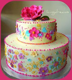 Hadley really wants this cake for her birthday. I love this cake!!!