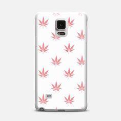 Coral Peach Cannabis Pot leaf Pattern
