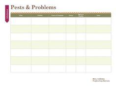 Print This Free Garden Planner: Garden Pests & Problems Printable