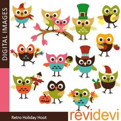 Cute holiday owls clip art (teacher resource clipart).Cute clip art set for teachers and educators. Great resource for any school and classroom projects such as for creating bulletin board, printable, worksheet, classroom decor, craft materials, activities and games, and for more educational and fun projects.You will receive:- Each clipart saved separately in PNG format, 300 dpi with transparent background.- Each clipart saved separately in JPG format, 300 dpi with white background.TERMS OF…