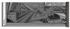 Dynamic Black And White Yoga Mat featuring the digital art Emtneicna by Douglas Christian Larsen