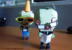 Plants Vs. Zombies - Zombies Paper Toys - by Maya In Paper