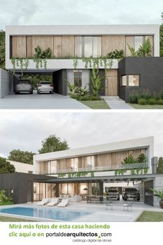 Home Building Design, Building Exterior, Building A House, Ultra Modern Homes, Modern Contemporary Homes, Modern Architecture House, Modern House Design, Modern Exterior, Exterior Design