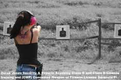 NRA Certified Instructor Concealed Weapon Class and G Firearms License Certification Derek Jones Security Firearm Academy Sarasota FL, Favored by PI Bill Warner