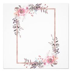 Blush & Rose Gold Framed Bridal Shower Invitation Zazzle com is part of Rose gold frame Shop Blush & Rose Gold Framed Bridal Shower Invitation created by GraphicBrat Personalize it with p - Wedding Invitation Posters, Free Wedding Invitation Templates, Floral Wedding Invitations, Bridal Shower Invitations, Rose Gold Wallpaper, Framed Wallpaper, Flower Background Wallpaper, Flower Backgrounds, Flower Picture Frames