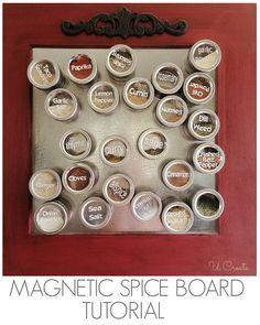 DIY Magnetic Spice Board