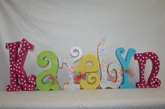 Nursery letters baby letters childrens decor nursery wooden letters pottery barn paisley pop. $78.95, via Etsy.