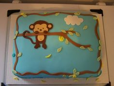 Pop Monkey Baby Shower Cake