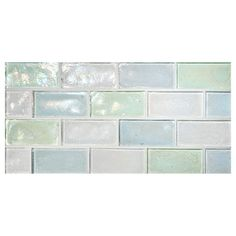 Complete Tile Collection TrueGlass Tile - Concepts - Sea Ice Blend - Pearl, Concepts - Recycled Glass Tile, MI#: 038 Blend, Color: Sea Ice Blend - White P, Windham P, Atlantic Green P, Frostlake P.