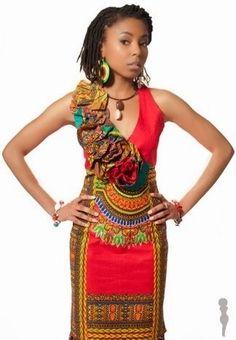 Dashiki Dress   Angelina print   Ghana Fashion   African Fashion