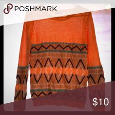 Peach and teal tribal sweater Tribal sweater gabriella rocha Sweaters Crew & Scoop Necks