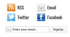 A Perfect Social Subscription Widget for Blogger / Blogspot