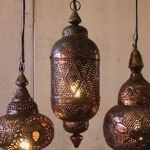 metal moroccan pendant lamp