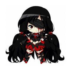 Chibi Saya Blood-C ❤ liked on Polyvore featuring anime, chibi and drawings
