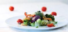 Grønnsaksform med urtesaus
