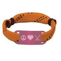Hockey Lace Bracelet Peace Love Hockey Adjustable Wrister Bracelet -LE