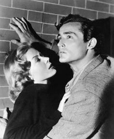 Gloria Grahame with Vittorio Gassman. The Glass Wall 1953 Film Noir. Jean Harlow, Rita Hayworth, Hollywood Stars, Classic Hollywood, Hollywood Actresses, Actors & Actresses, Bogart Movies, Gloria Grahame, Double Indemnity