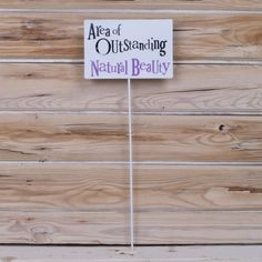 Area of Outstanding Natural Beauty Metal Garden Sign Stake The Bright Side for sale online Garden Decor Items, Side Garden, Garden Signs, Bamboo Cutting Board, Natural Beauty, Home And Garden, Bright, Nature, Naturaleza