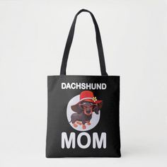 Dog Gift | Dachshund Mom Lovely Tote Bag doberman puppy, doberman lab mix, doberman husky mix #Doberman #dobermanpride #dobermansofinstagram, back to school, aesthetic wallpaper, y2k fashion