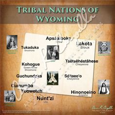 Tribal Nations of Wyoming Map American Indian Wars, Native American Tribes, Native Americans, American Indians, Wyoming Map, English Teaching Resources, Indigenous Tribes, Us History, People Around The World