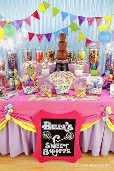 Sweet Shoppe Party, Candy Buffet