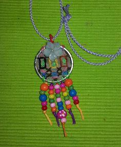 Stiched hippie pendant