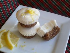 "Mini Lemon ""Cheesecake"" with Gingered Date Crust (AIP, nut free, dairy free, refined sugar free) #MyBigFatGrainFreeLife"