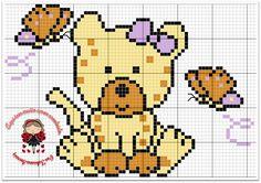 tigresa baby ponto cruz, bebê, infantil, menina