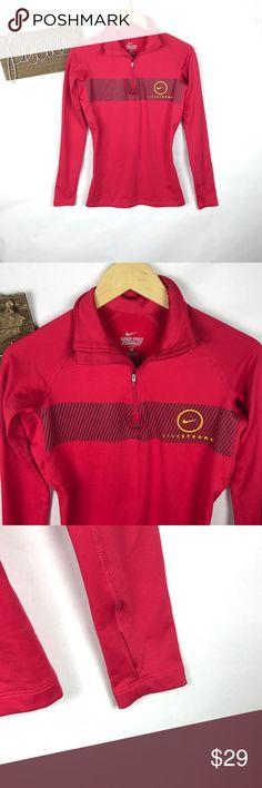 Live strong half zip pull over jacket In euc size small has thumb holes Nike Jackets & Coats
