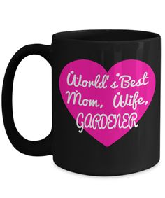 Gardening Gift Sets For Her   Coffee Mug For Mom Mothers Day   15 Oz Black