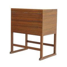 Jacob Hermann  Cabinet  Designed 1948  W: 50 cm · H: 59 cm · D: 32 cm  Materials: Mahogany with ivory inlay Manufacturer: Wörts