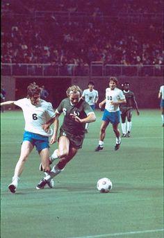 Defender Jim Gabriel tries to take the ball away