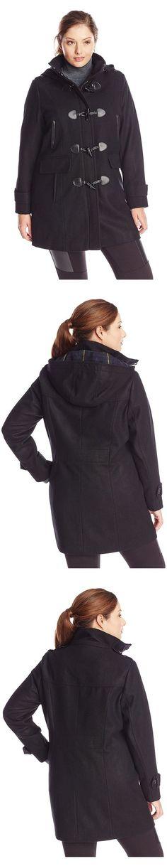 0ee326f9eeb  179.99 - Tommy Hilfiger Women s Plus-Size Wool Duffle Coat Black   tommyhilfiger
