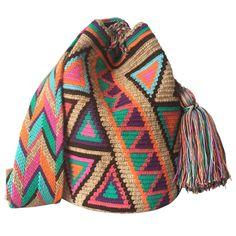LARGE Double Thread Wayuu Mochila Bag made in the desert of La Guajira, Colombia with love | RETAIL + WHOLESALE | Handmade and Fair Trade Wayuu Mochila Bags LOMBIA & CO. | www.LombiaAndCo.com