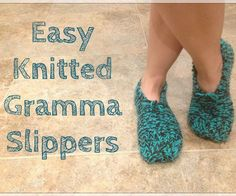 Easy Knitted Gramma Slippers: 9 Steps (with Pictures)