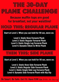 Because Muffing Tops are good for breakfast! Challenge starts January 1st, join us! 30-Day Plank Challenge